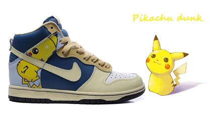 2364f948cf0fa Pikachu Pokemon Nike Dunk High tops shoes - Nike Dunk High Tops Shoes