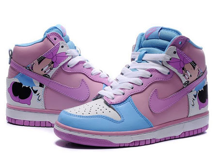 Disney-Minnie-Mouse-Nike-Dunk-High-tops-Costumes-White-Turquoise-Pink-Violet_1